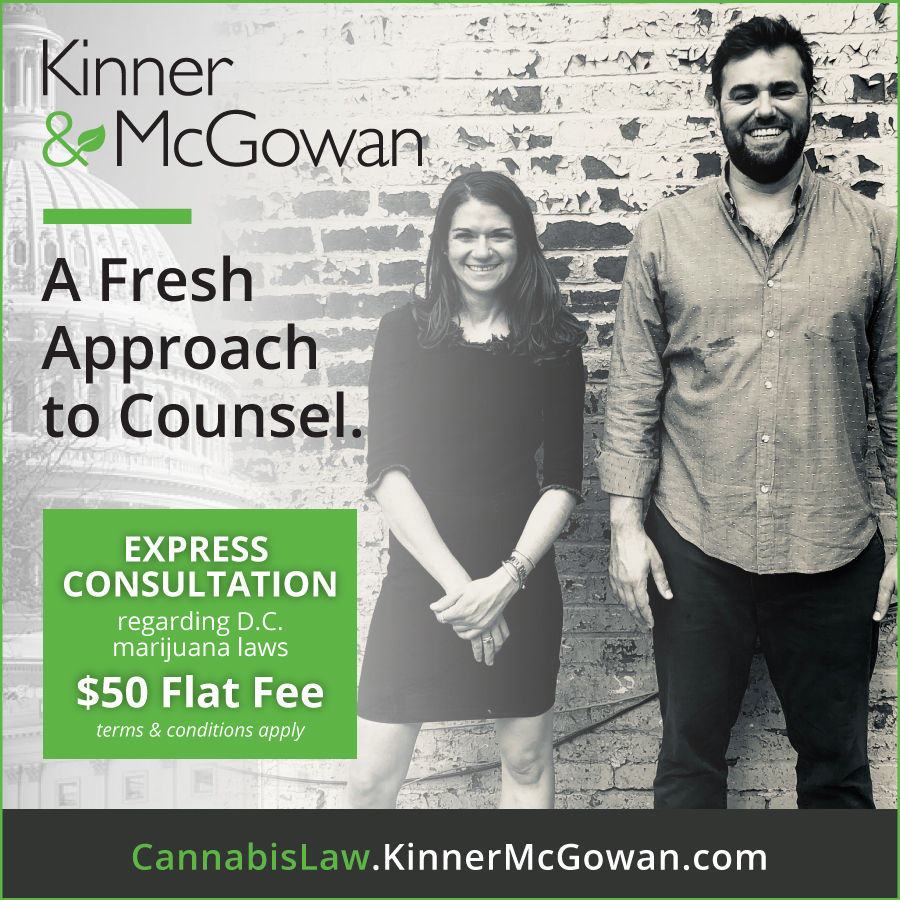 Kinner and McGowan image advertising weed lawyers