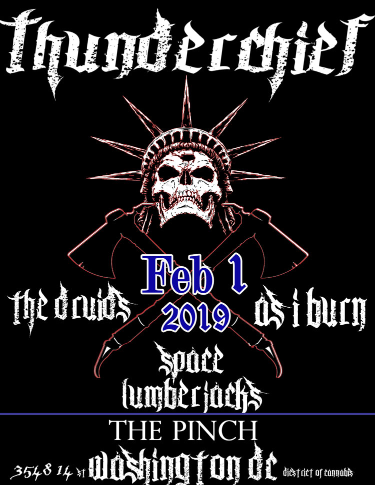 Thunderchief band poster DC Feb 1
