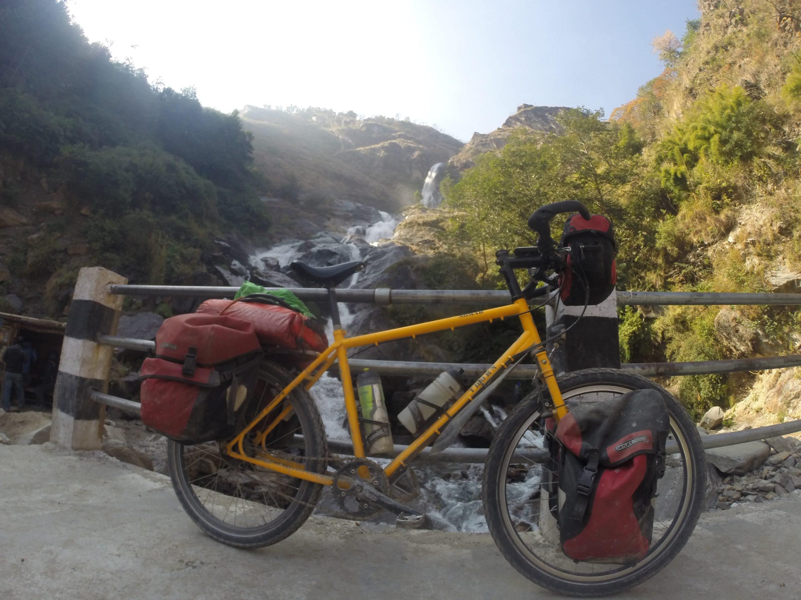 Bicycle India waterfall