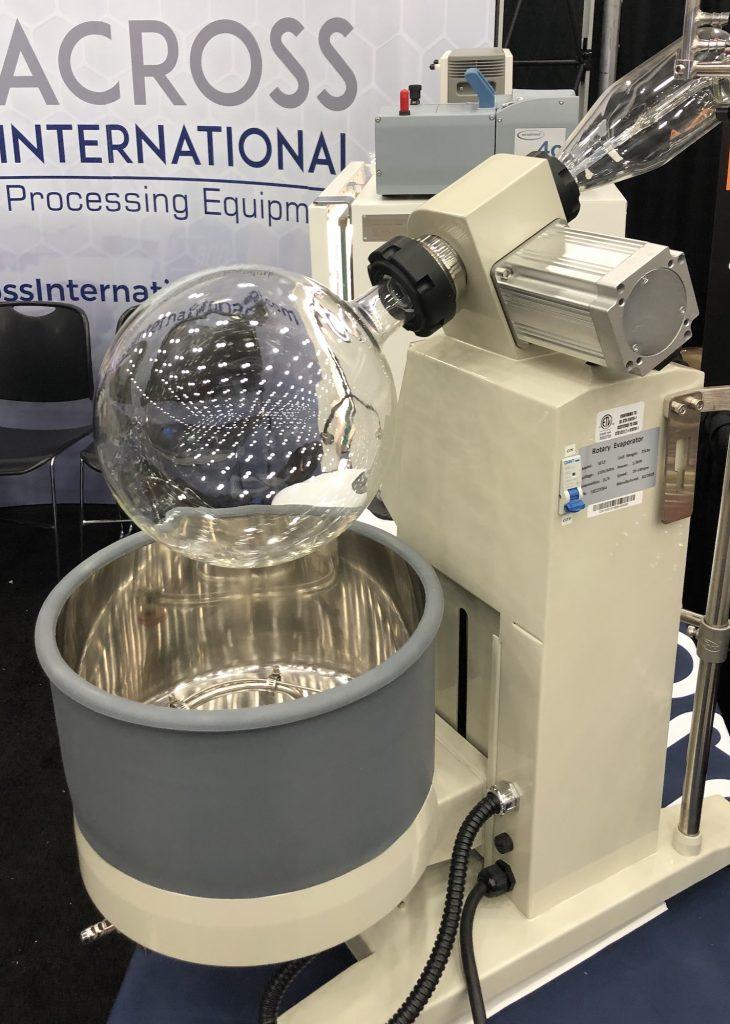 rotary evaporator marijuana lab equipment photography