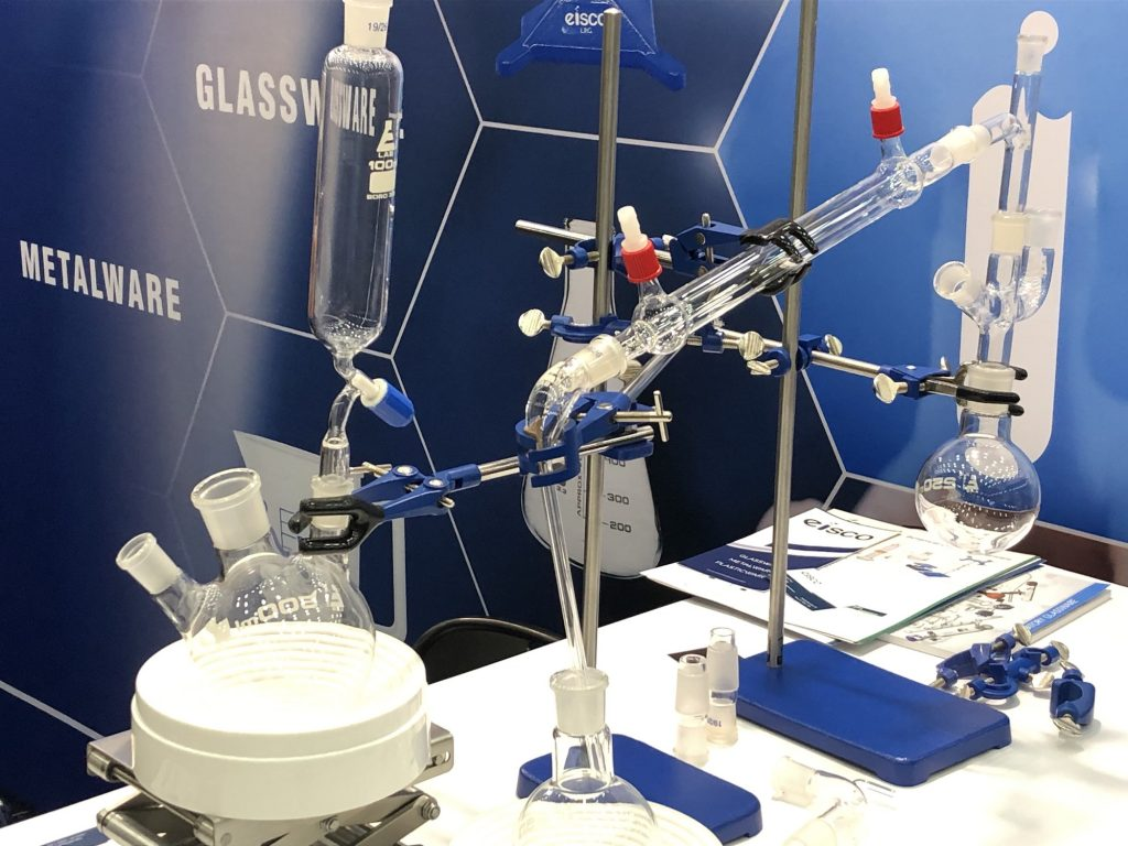 EISCO glassware metalware lab equipment photography