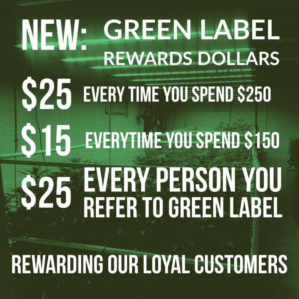 Green Label rewards program details