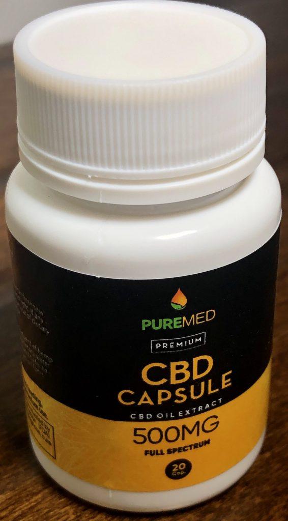 PureMed CBD Capsules bottle photography