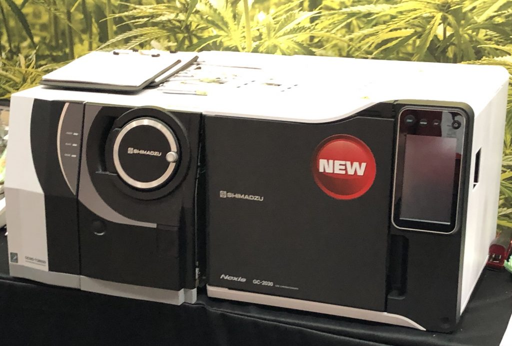 Gas Chomatography Mass Spectrometer Shimadzu cannabis lab equipment photography