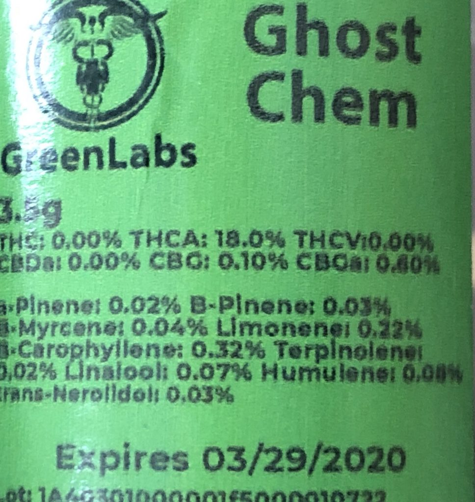 SunMed Maryland medical weed ghost chem test report
