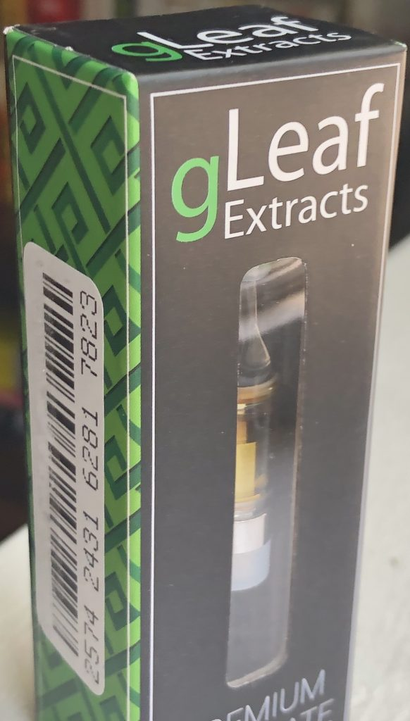 GreenLeaf MD MMJ vape cartridge package outside photo
