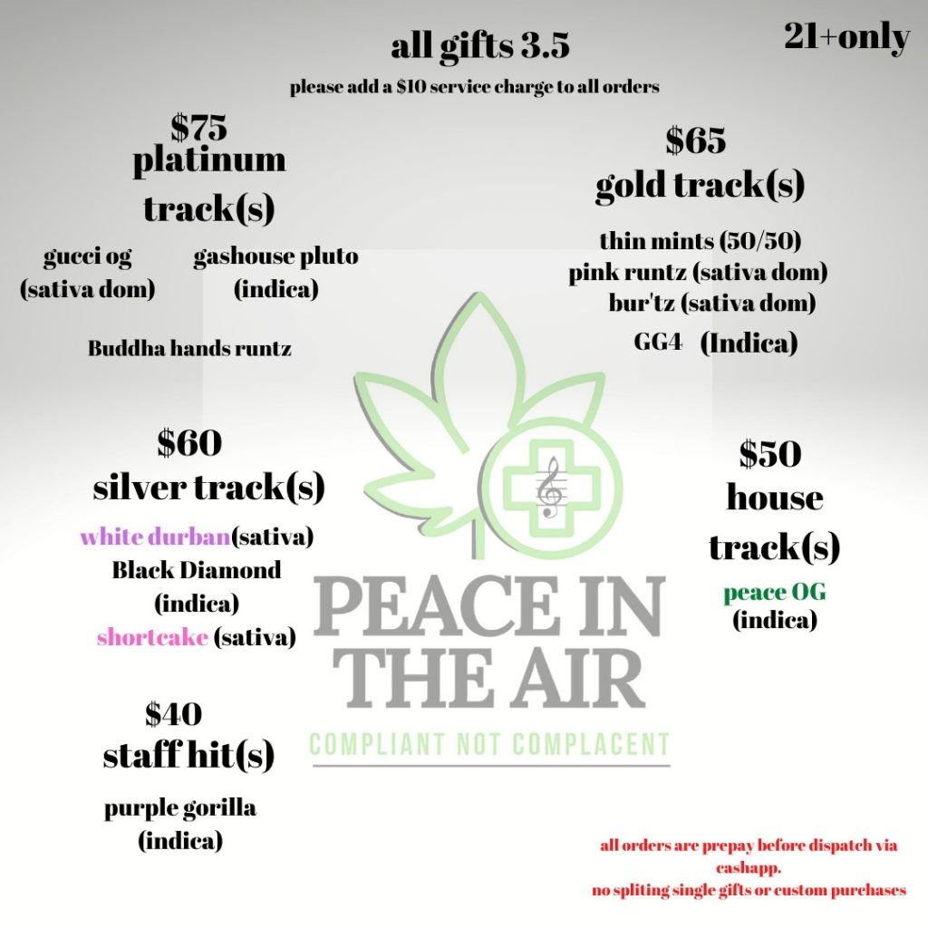 peace in air weed selection april 5 2020