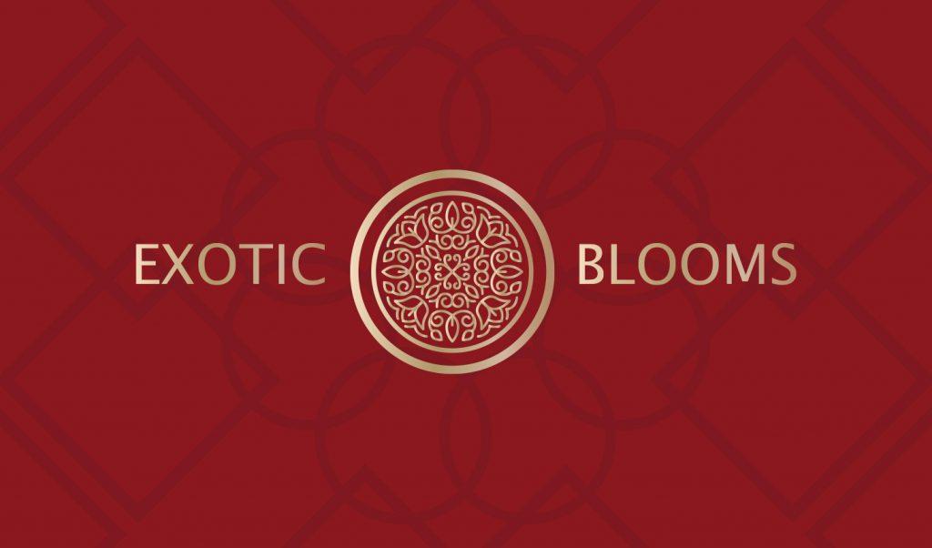 exotic blooms dc logo banner