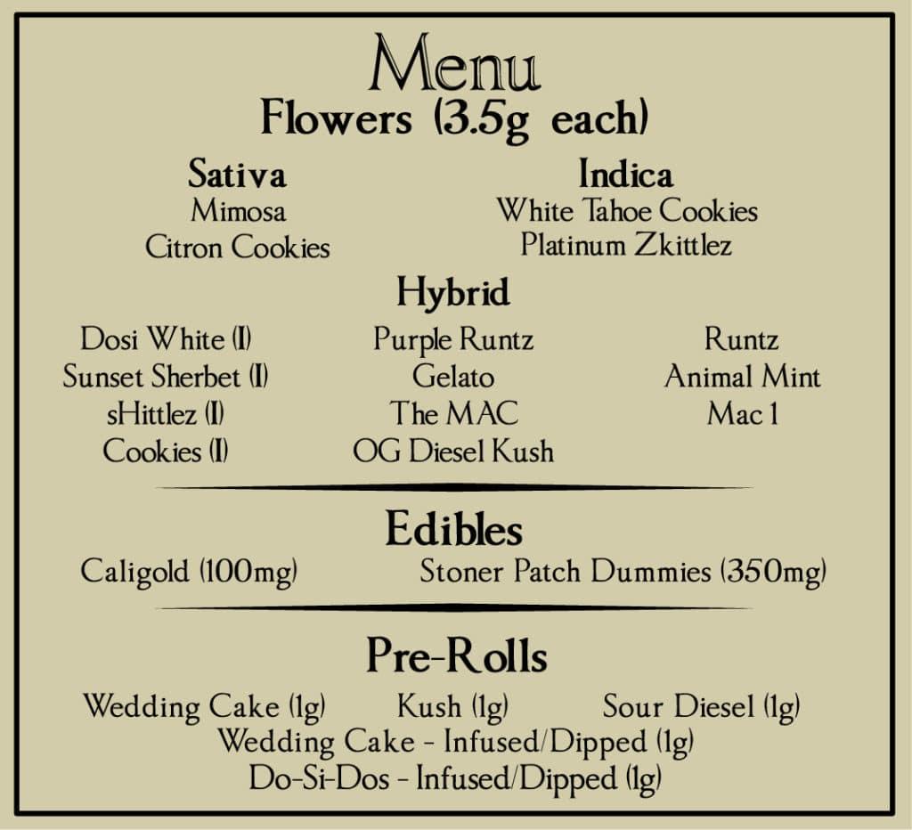 gifted curators dc weed menu June 30 2020