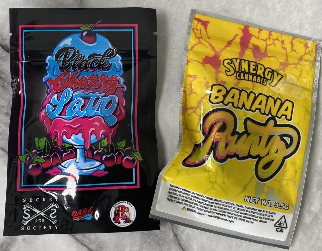 peace air dc banana runtz black cherry lato package photo