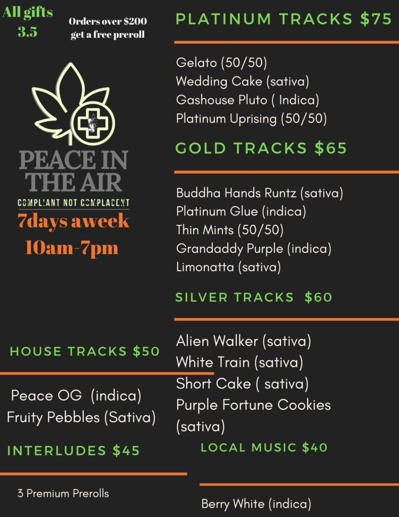 peace in the air dc flower select June 14 2020