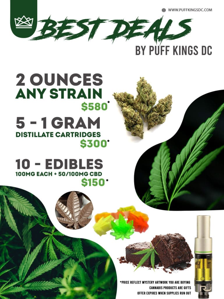puff kings dc best weed deals flyer
