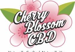 cherry blossom cbd logo