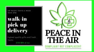 peace in the air dc weed storefront banner
