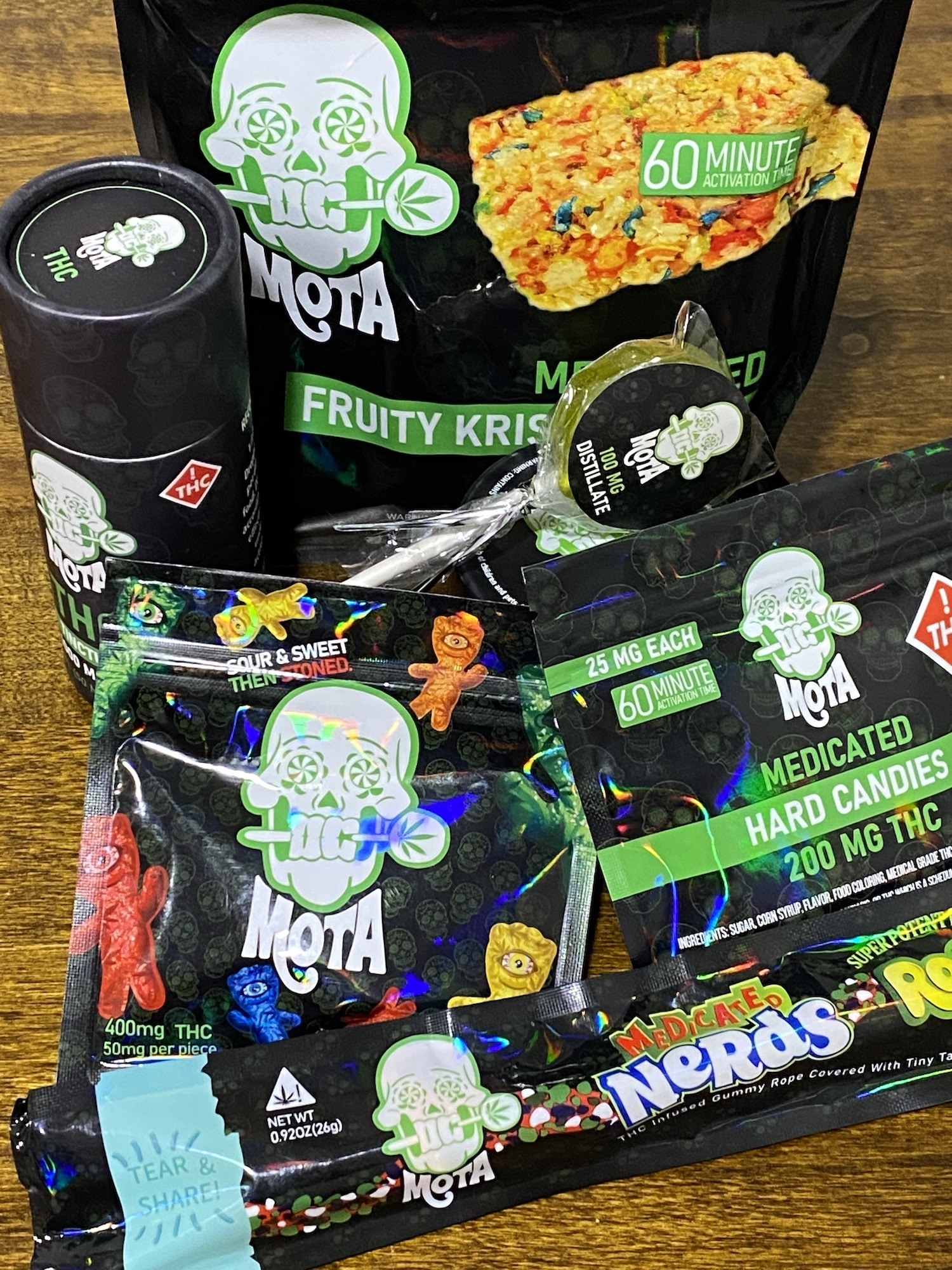 baked dc mota weed edibles line photo