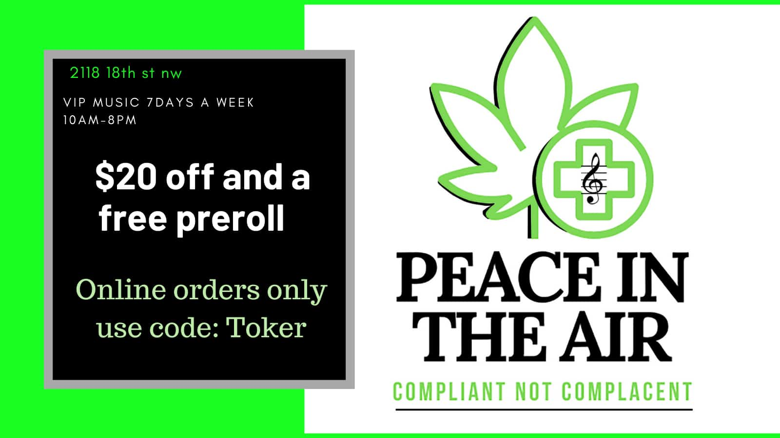 peace in the air dc gt promo banner