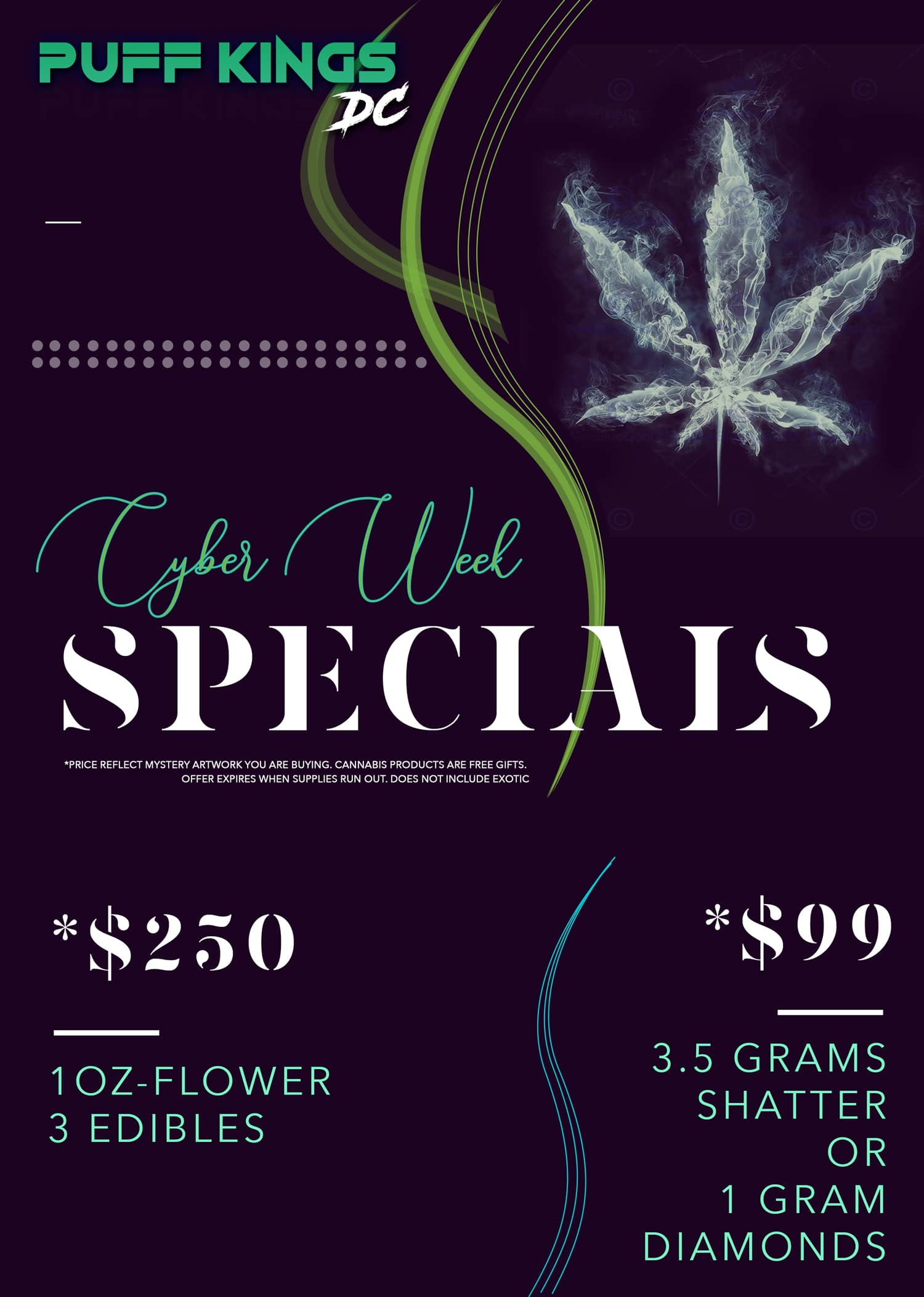 puff kings dc cyber week specials flyers