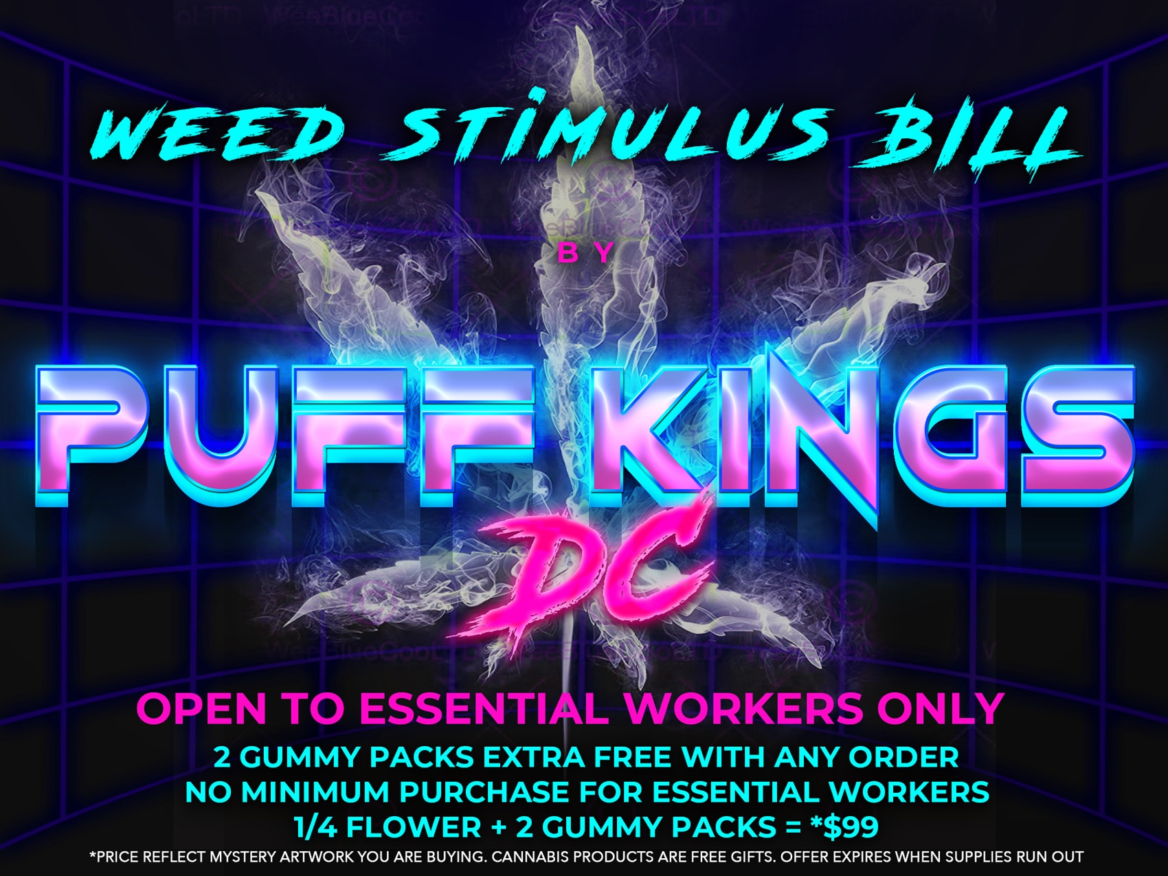 puff kings dc weed stimulus flyer