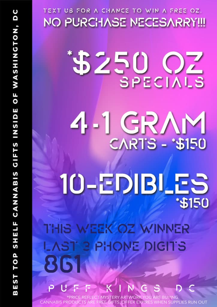 puff kings dc ounce special flyer