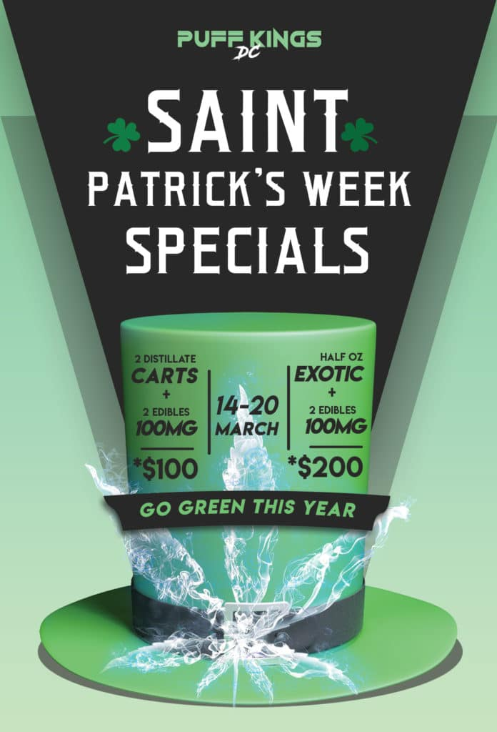 puff kings dc st patricks day specials flyer