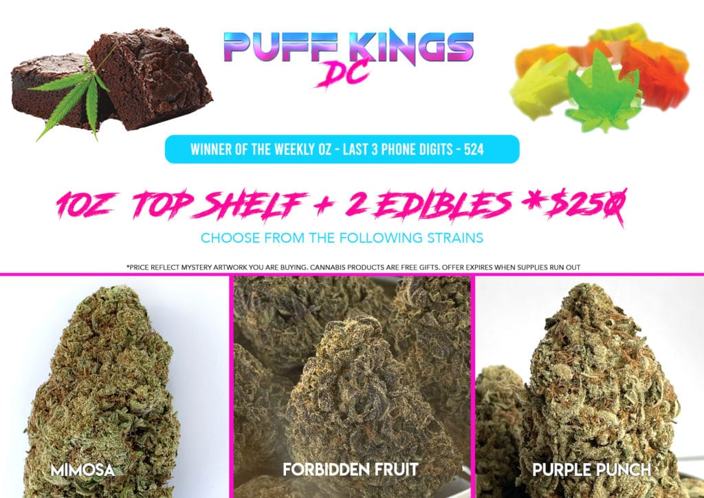 puff kings top shelf trio special flyer