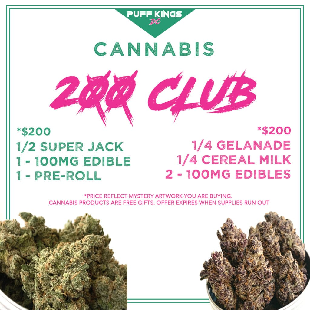 puff kings dc 200 club specials flyer