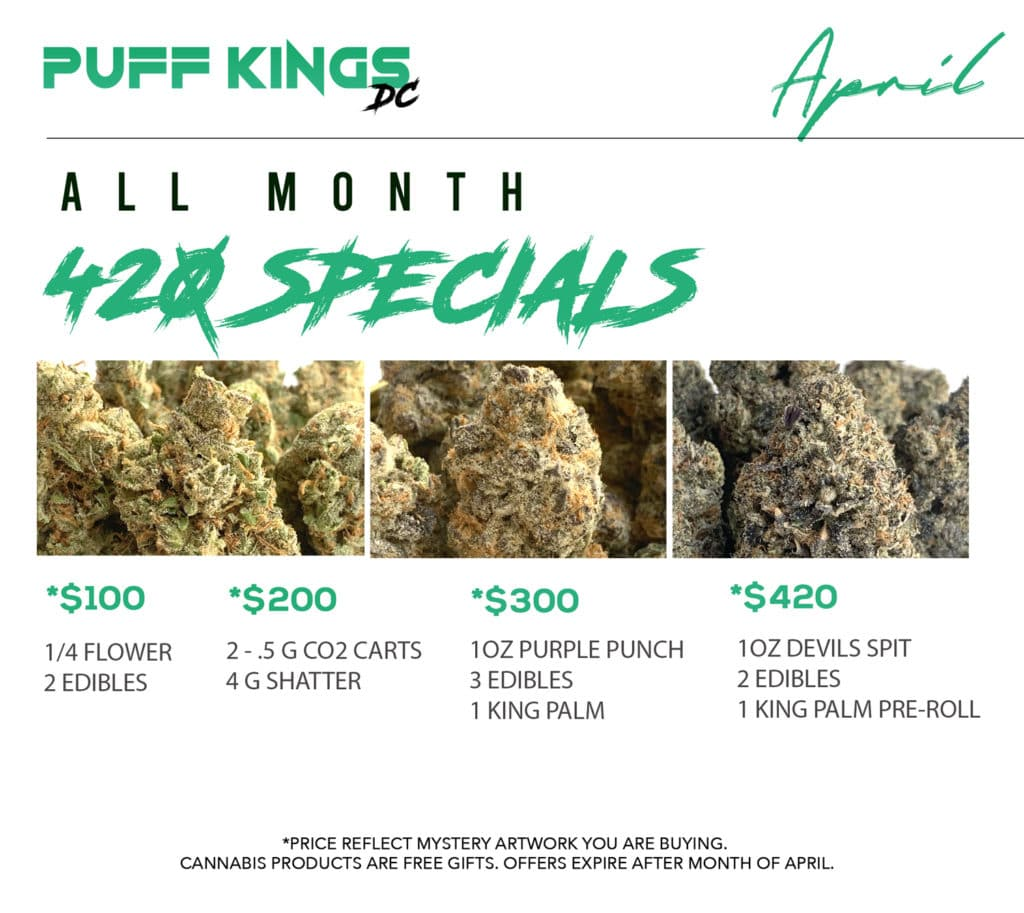 puff kings dc 420 specials flyer
