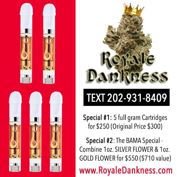 royale dankness 420 specials flyer