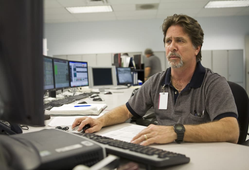 government worker looks disappointed photo