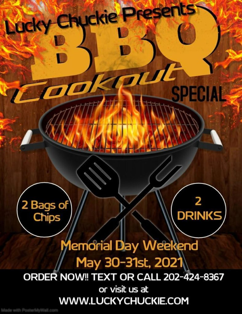 lucky chuckie dc memorial day bbq special