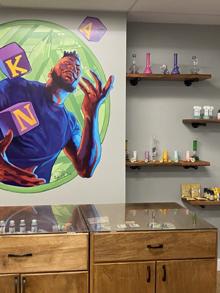 no kids allowed dc weed store aniekan mural photo