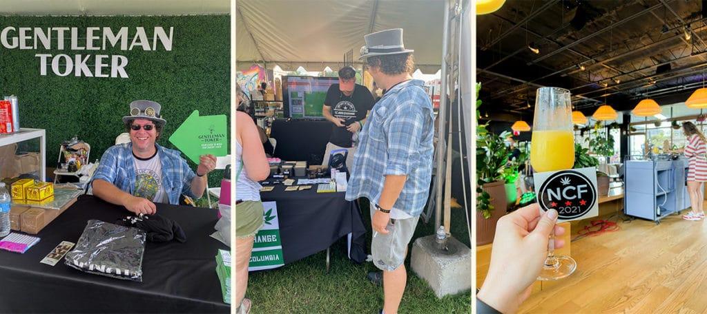 gentleman toker at national cannabis festival