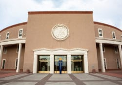 new mexico capitol building stock photo