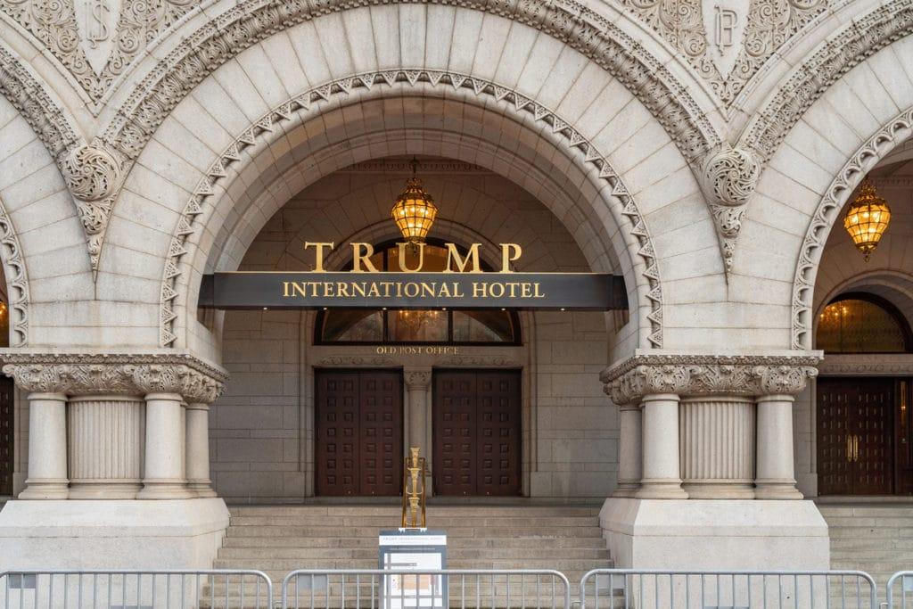 front of trump international hotel washington dc